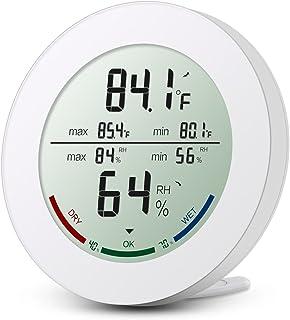 Brifit ORIA Termómetro interno, higrómetro digital interno, humedad del hidrómetro digital con alta precisión, pantalla LC...