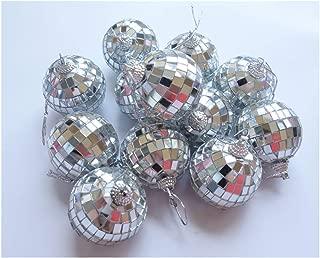 HAMIYA 12 Pcs 2 Inch Disco Ball Decoration Hanging Mirror Ornament Bar Party Wedding Christmas Xmas Tree Decorations