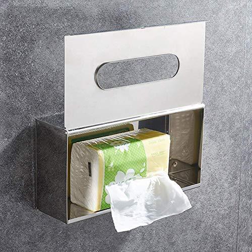Portarollos Papel Higienico El tejido de acero inoxidable Caja higiénico impermeables gaveta de baño Toallitas cajón Cajón Caja de papel higiénico HolderAAA Portarrollos Baño