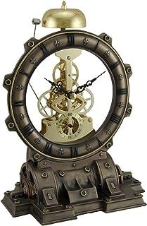 Veronese Design Time's Gate Metallized Steampunk Generator Desktop Striking Clock