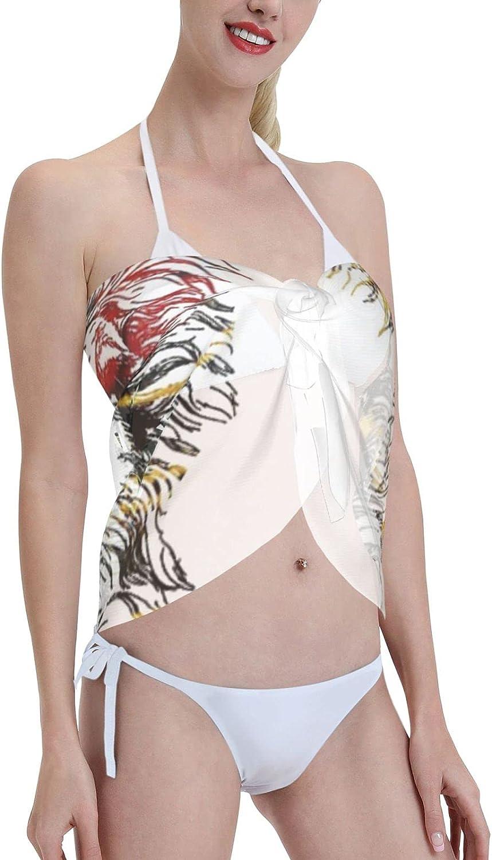 2053 pants Llama Women Chiffon Beach Cover ups Beach Swimsuit Wrap Skirt wrap Bathing Suits for Women