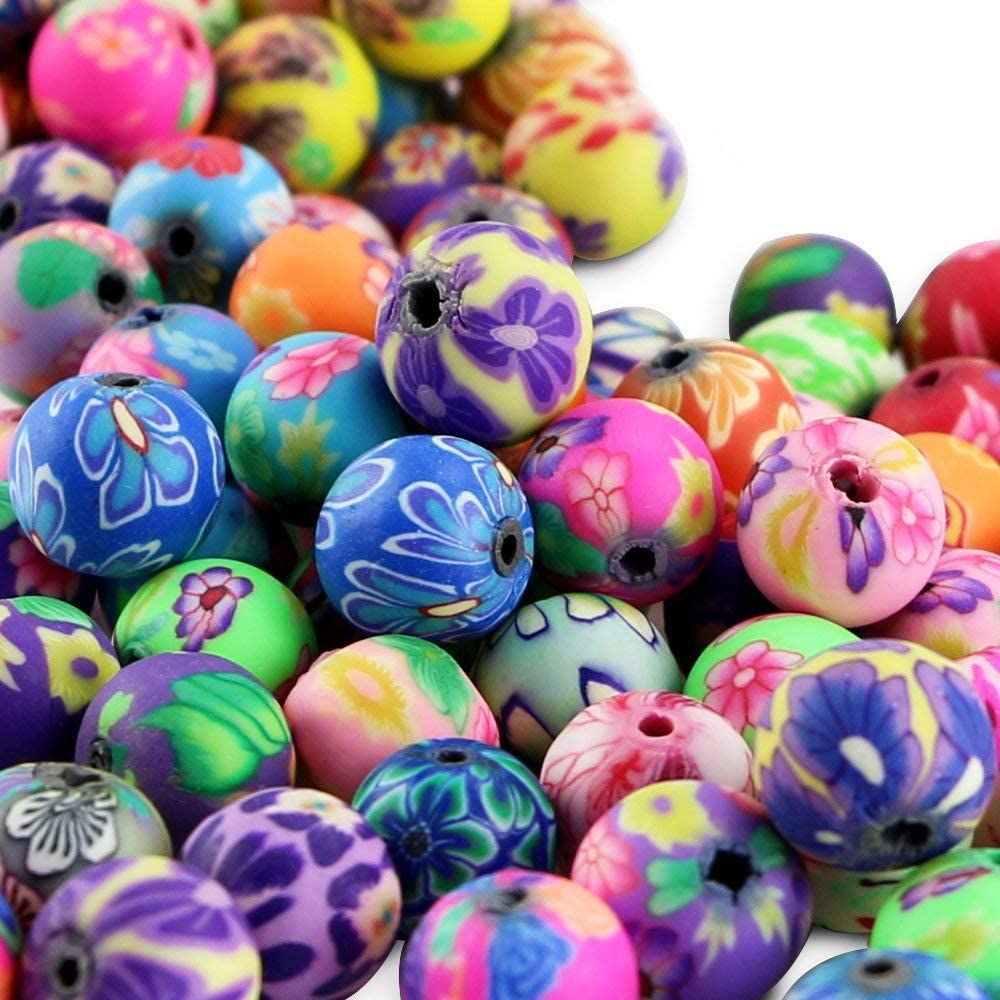 High quality handmade polymer clay beads,12mm round caly Beads,assorted polymer clay beads for jewelry supplies