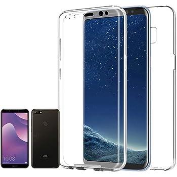 PLANETMOVIL [ Compatible con Huawei Y7 2018 ] Funda Carcasa Doble ...