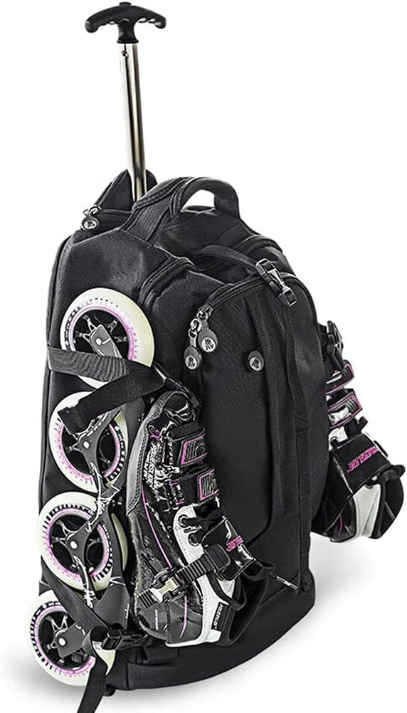 Factory outlet GLJ Black Roller Now free shipping Skate Bag Waterproof Backpack Rolling Wheeled
