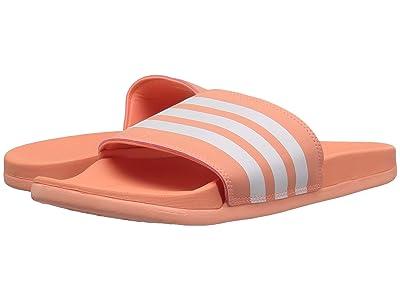 adidas Adilette CF+ Stripes (Chalk Coral/White/Chalk Coral) Women