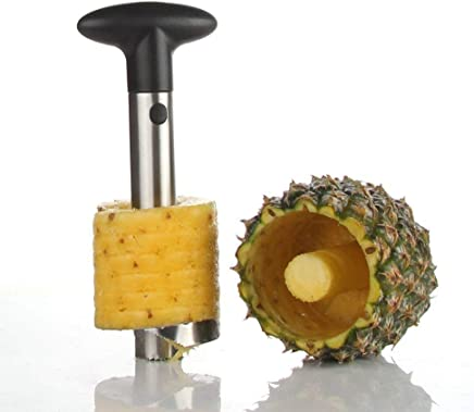 HappenWell Stainless Steel Pineapple Cutter and Peeler Fruit Peeler Slicer Cutter Machine Kitchen Cutter Knife