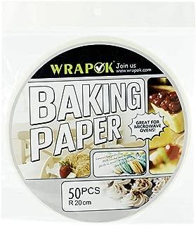 WRAPOK 20,3 cm Bamboo Steamer Paper Air Fyer Liners Round perforato pergamena antiaderente per cottura a vapore teglie per torte 100 pezzi
