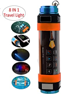 CyberDyer LED Camping Lamp USB Rechargeable Camping Lantern Emergency SOS Travel Flashlight Waterproof with Magnetic Power Bank Window Breaking Device Mosquito Dispeller (Medium - 9.84