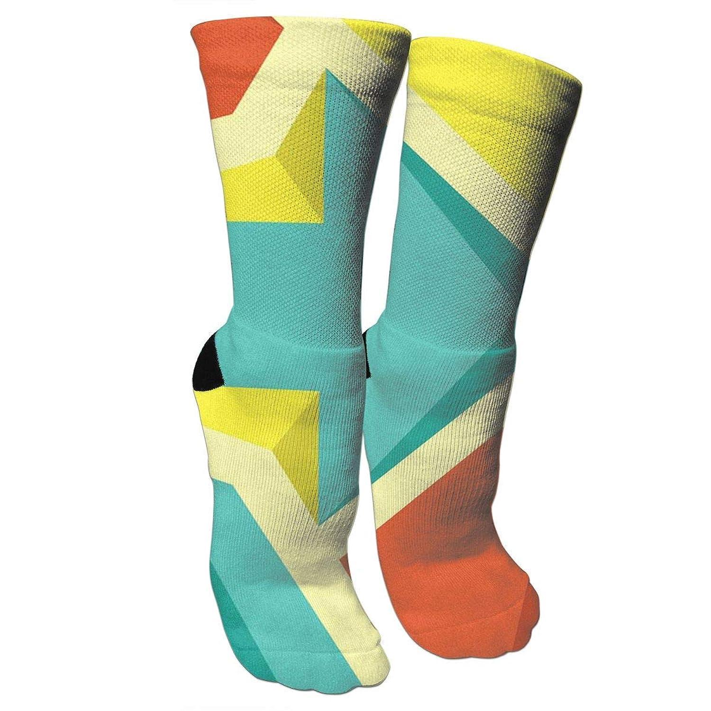 靴下 抗菌防臭 ソックス レトロゴージャスフラットカラーアスレチックスポーツソックス、旅行&フライトソックス、塗装アートファニーソックス30 cmロング靴下