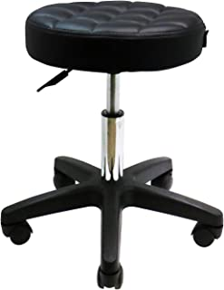 GreenLife® Deluxe Hydraulic Adjustable Height Rolling Stool Spa Facial Massage Tattoo (Black)