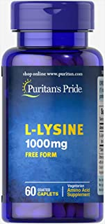 Puritan's Pride L-Lysine 1000 mg-60 Caplets