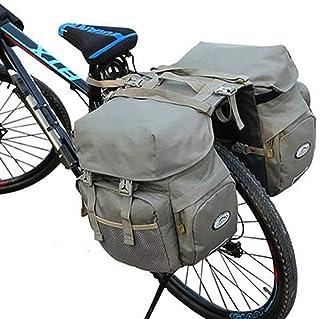 自転車用リアバッグ/自転車用サイドバッグ 50L 大容量 防水 自転車用バッグ キャンバス 自転車用バッグ サイクリングバッグ サイクリング キャンプ/バイク/レインカバー付き