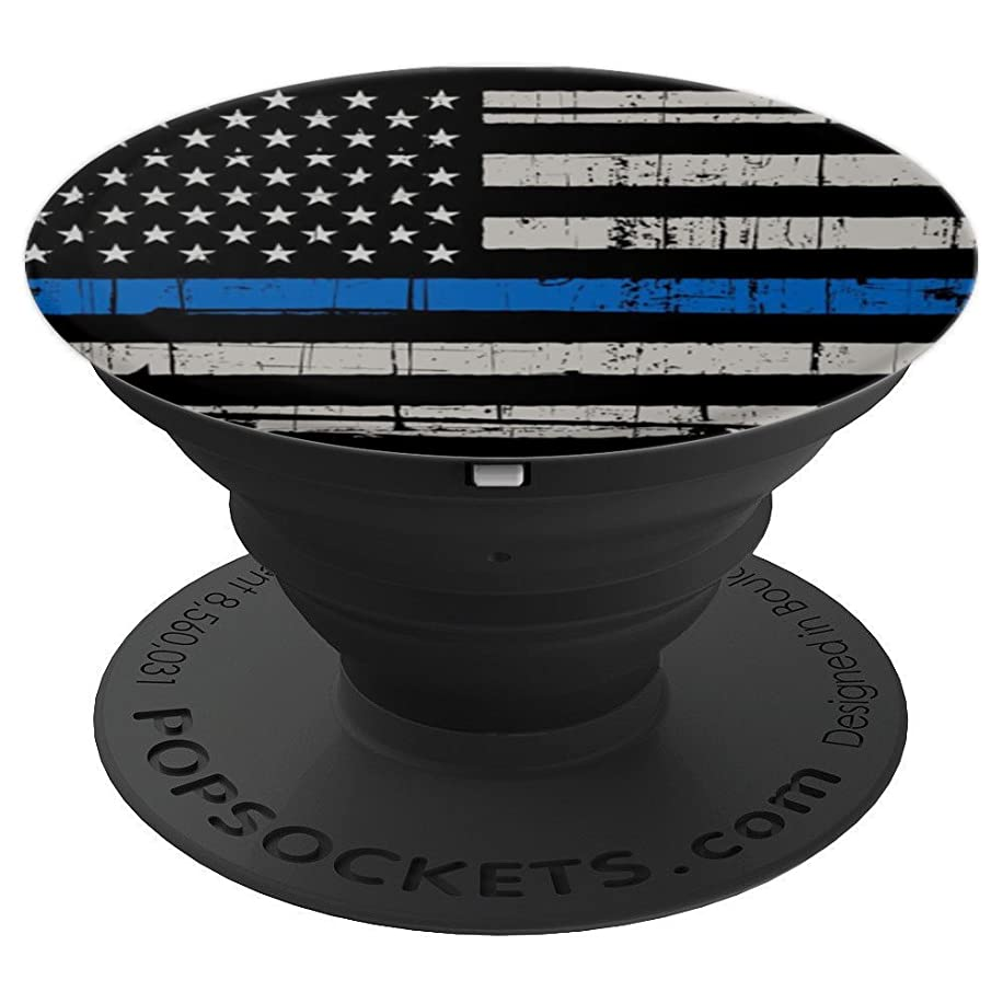 Mobile American Flag Blue Line Police Pride - PopSockets Grip and Stand for Phones and Tablets