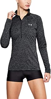 Under Armour Womens Tech 1/2 Zip - Twist-Blk Tees And T-Shirts