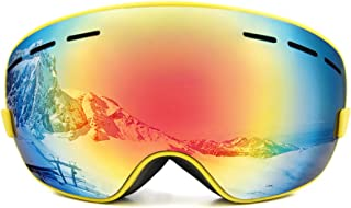 uxcell Ski Snowboard Goggles Anti-Fog UV Protect Eyes Comfort for Men Women Winter Sports Skiing Skating Snowmobile Cycling Riding Motocycling