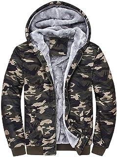 Maglione mimetico da uomo Parka invernale casual Felpa con cappuccio Giovane Abiti da festa Plus Giacche spesse calde in v...