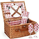 Best Picnic Baskets - Picnic Basket for 2,Picnic Set Hamper with Waterproof Review