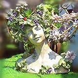 zenggp Göttin Kopf Pflanzer Blumentopf Dame Vase Griechische Skulptur Römischen Harz Flower Planter,A