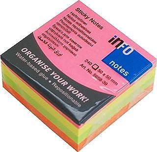 DIAKAKIS 000058948 Sticky Notes 50X50 240P, Multicolored