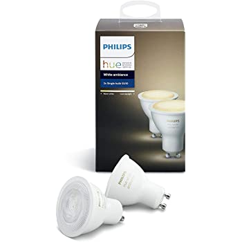 Philips Hue Pack 2 Bombillas Inteligentes LED GU10, 5.5W, Luz ...