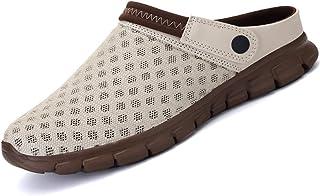 LIANNAO Hombres Zuecos Zapatillas de Playa Respirable Acoplamiento Antideslizante Sandalias Zapatos Verano Malla Ligeros C...