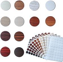 12 vellen Thuiskantoor Schroef Gaten Cover Caps Stickers, Zelfklevende PVC Cover Caps, Schroef Gat Sticker voor Wandmeubil...