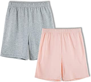 Kids 2-Pack 100% Cotton Knit Summer Shorts for Boys and Girls