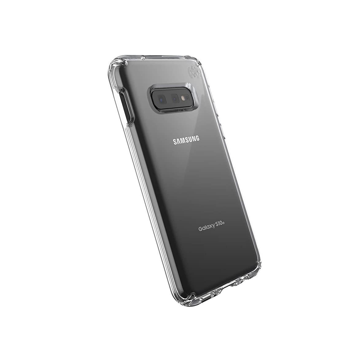 Speck Products Compatible Phone Case for Samsung Galaxy S10e, Presidio Stay Clear Case, Clear/Clear