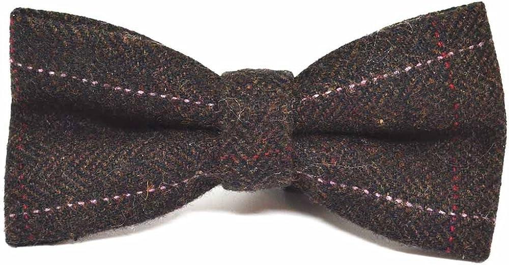 Luxury Ranking TOP14 Herringbone 1 year warranty Chocolate Brown Tie Bow Tweed