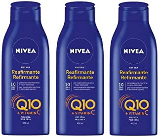 Nivea Q10 Triplo Body Milk Reafirmante Piel Seca  -  Pack de 3 x 400 ml