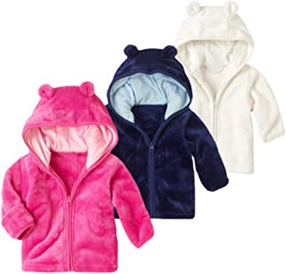sunbona Toddler Baby Boys Girls Cardigan Jacket Outwear Autumn Winter Warm Cotton Zipper Puffer Thick Cloak Coat Clothes