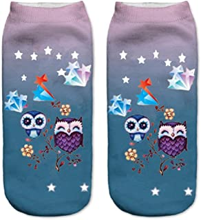 FLYFISH, Perro Pug Imprimir Calcetines Casual Harajuku Art Calcetines Low Cut Calcetín Tobillo Mujer Niño Niña Regalo de Regalo Calcetín Corto