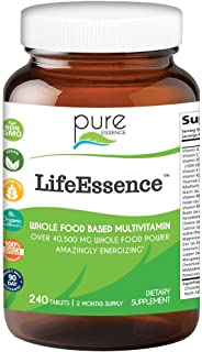Pure Essence Labs LifeEssence Multivitamin for Women and Men - Natural Herbal Supplement with Vitamin D, D3, B12, Biotin -...