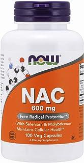 Now Foods NAC con selenio y molibdeno 600 mg 100 Unidades 110 g