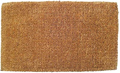"Entryways Blank Extra Thick Handmade, All-Natural Coconut Fiber Coir Doormat 18"" X 30"" X 1.5"""