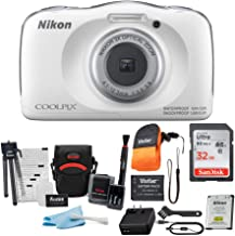 Nikon Coolpix W150 Digital Camera (White) with 32GB Card,...