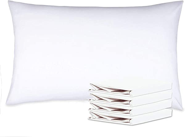NTBAY 100 Brushed Microfiber Pillowcases Set Of 4 Soft And Cozy Wrinkle Fade Stain Resistant 20 X 30 White