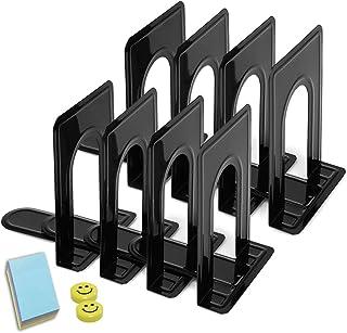 Qualsen Serre Livres, Cale Livre, Presse Livre, 4 paires, Noir, 19 x 12 x 15 cm