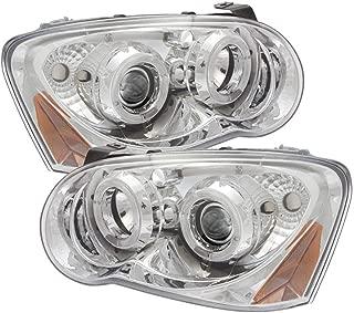 For 04-05 Subaru WRX LED Dual Halo Projector Clear Len Pair Headlights Headlamps Amber Corner