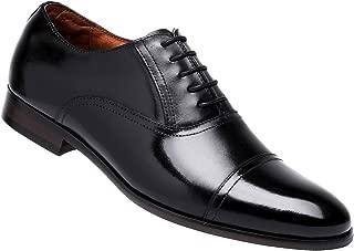 DESAI Leather Oxford Dress Shoes for Men Cap Toe Lace up