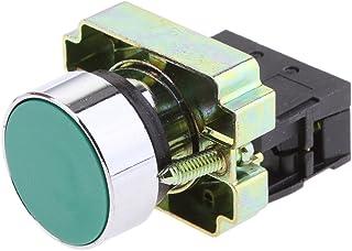 XB2-BA31 Grön Momentär självåterställd spolknapp strömbrytare 1 NO N/O 22 mm