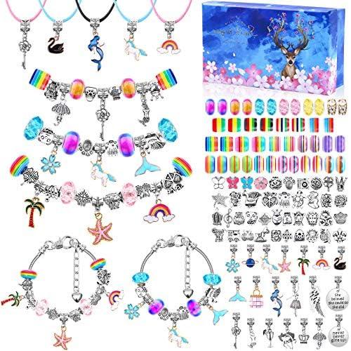 110 Pcs Charm Bracelets Making Kit for Girls Thrilez Charm Beads Bracelet Jewelry Kit with Bracelets product image