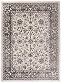 Grande Tapis d'Orient - BLANC GRIS - Motif Persan Traditionnel et Oriental - Tapis de Salon Ultra Doux - ' AYLA ' - 200_x_300_cm