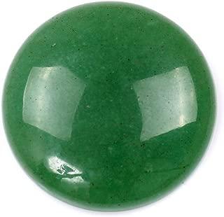 30 x 30mm Large Round Cabochon CAB Flatback Semi-Precious Gemstone Stone (Green Aventurine)