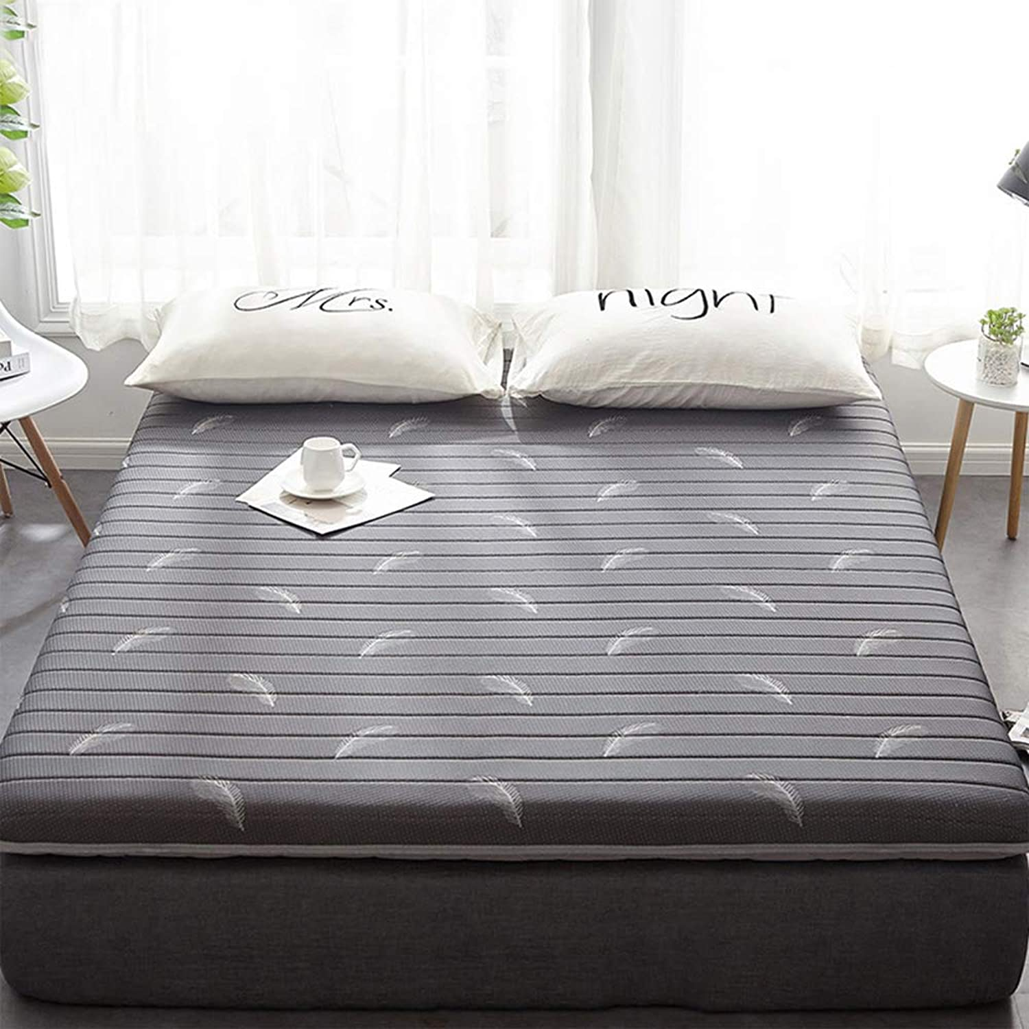 Memory Foam Mattress Ultra-Soft, Japanese Tatami Mattress Sided Available Breathable Sleeping Pad for Hotel Bedding-d 120x200x6cm(47x79x2inch)