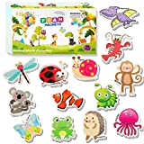 HLXY Refrigerator Magnets for Kids 64 PCS Animals Magnets Toys -Dinosaurs Insect Ocean Sea Animal Magnets - Foam Animal -Fridge Magnets for Toddlers Educational Toy for Preschool Learning