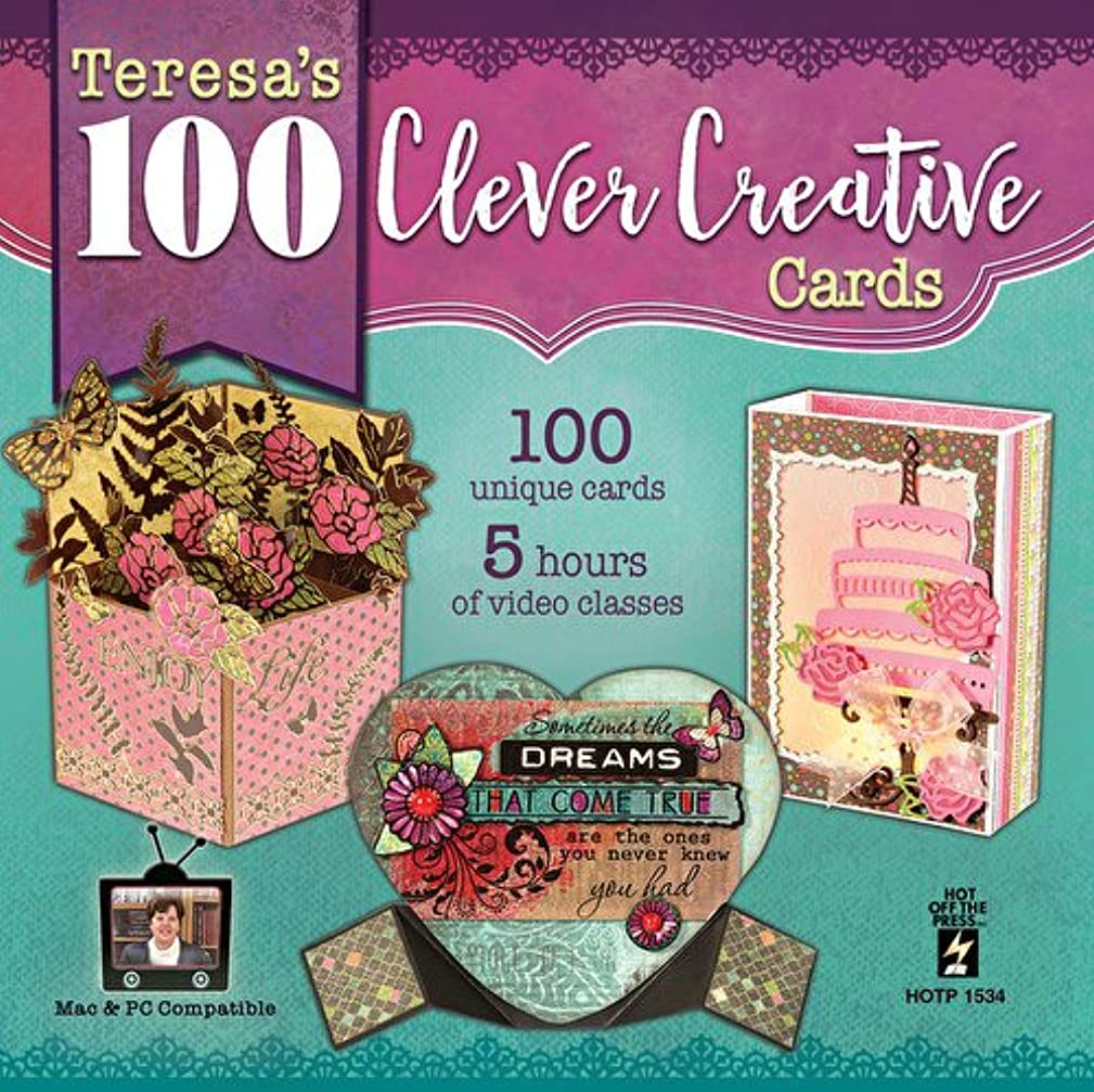 100 Clever Creative Cards Computer DVD by Hot Off The Press | Inspiration for 100 Unique Cards