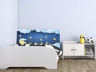 Cabecero Cama Infantil PVC Impresión Digital sin Relieve Escalera Noche Estrellada 100 x 60 cm | Disponible en Varias Medidas | Cabecero Ligero, Elegante, Resistente y Económico