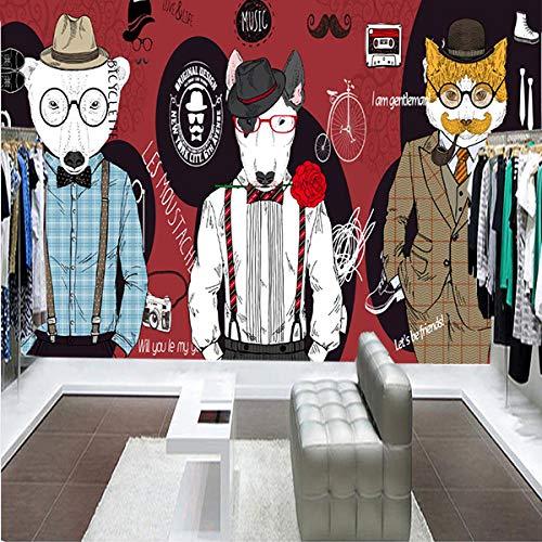 WWMJBH Papel Pintado Autoadhesivo (Ancho) 400X (Alto) 280Cm3D Retro Nostálgico Pet Shop Graffiti Papel Pintado Mural Póster De Pared 3D Mural Foto Niños Niño Niña Dormitorio Arte De La Pared Sala