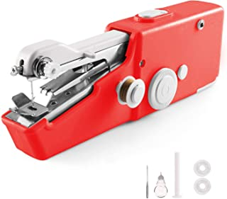 Portable Mini Handheld Sewing Machine, Cordless Handheld Electric Mini Sewing Machine or Home Travel Stitching Sewing Machine for Adults, Best Birthday DIY Gift for Kids & Adult(Battery Not Included)